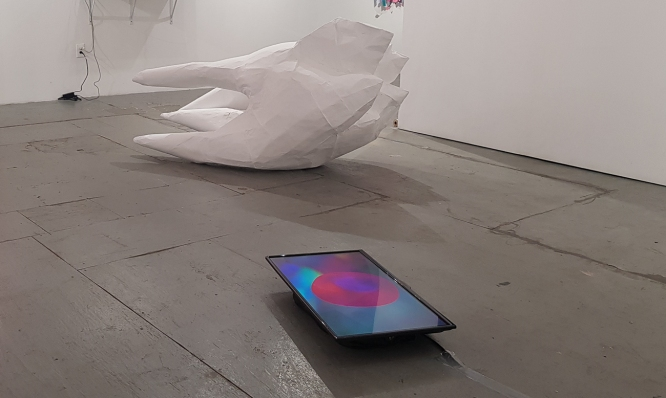 Linda Loh NARS NYC 2018 Residency Exhibition Deep Pink Installation view