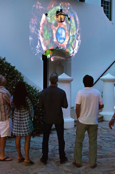 Linda Loh Lure Digital Graffiti installation view Florida 2016